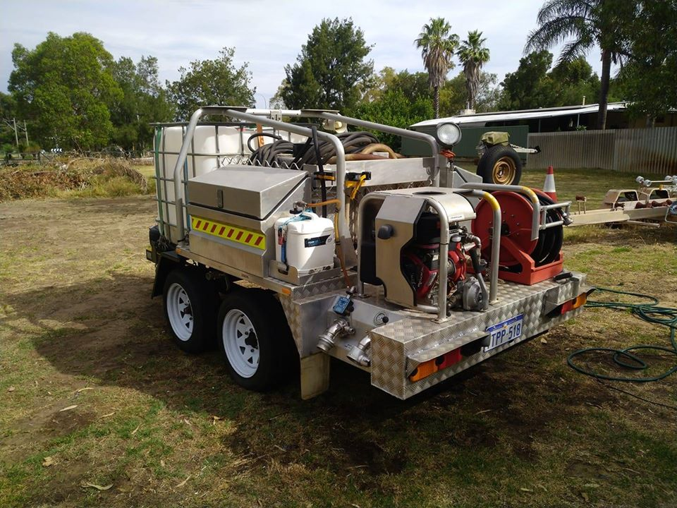 A photo of an On Site Emergency Fire Response Trailer
