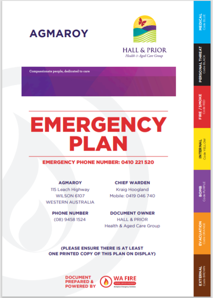Workplace Emergency Response Plan: WA Fire