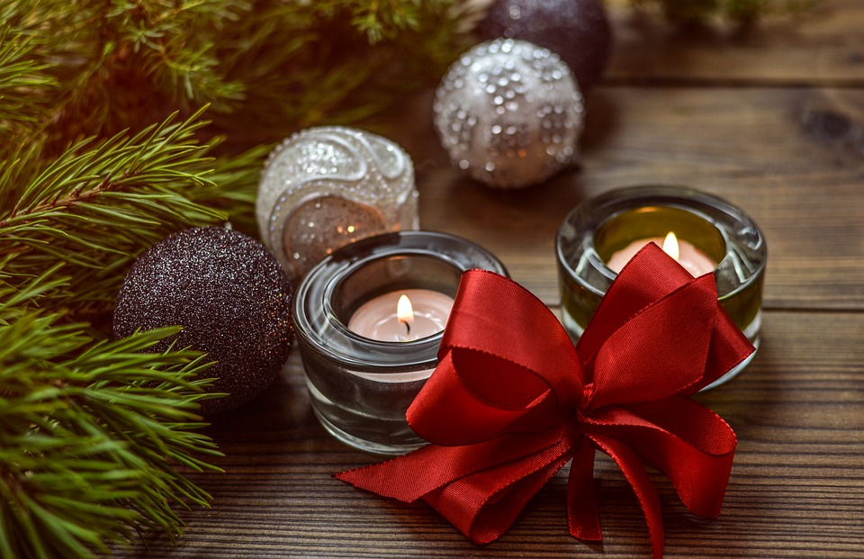 A photo of candles. Christmas fire safety tips from WA Fire